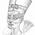 фото Эскизы тату Нефертити от 02.10.2017 №108 - Sketches of Nefertiti - tatufoto.com