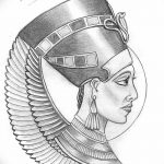 фото Эскизы тату Нефертити от 02.10.2017 №110 - Sketches of Nefertiti - tatufoto.com