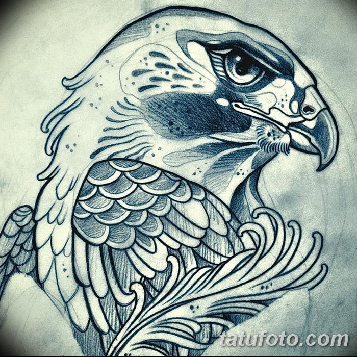 фото Эскизы тату орёл от 21.10.2017 №003 - Sketches of an eagle tattoo - tatufoto.com