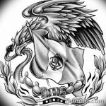 фото Эскизы тату орёл от 21.10.2017 №005 - Sketches of an eagle tattoo - tatufoto.com