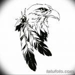 фото Эскизы тату орёл от 21.10.2017 №008 - Sketches of an eagle tattoo - tatufoto.com