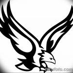фото Эскизы тату орёл от 21.10.2017 №011 - Sketches of an eagle tattoo - tatufoto.com