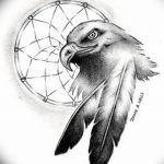 фото Эскизы тату орёл от 21.10.2017 №024 - Sketches of an eagle tattoo - tatufoto.com