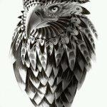 фото Эскизы тату орёл от 21.10.2017 №028 - Sketches of an eagle tattoo - tatufoto.com
