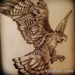 фото Эскизы тату орёл от 21.10.2017 №030 - Sketches of an eagle tattoo - tatufoto.com