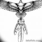фото Эскизы тату орёл от 21.10.2017 №036 - Sketches of an eagle tattoo - tatufoto.com