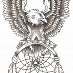 фото Эскизы тату орёл от 21.10.2017 №037 - Sketches of an eagle tattoo - tatufoto.com