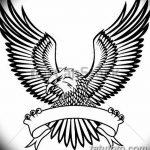фото Эскизы тату орёл от 21.10.2017 №040 - Sketches of an eagle tattoo - tatufoto.com