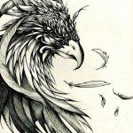 фото Эскизы тату орёл от 21.10.2017 №045 - Sketches of an eagle tattoo - tatufoto.com