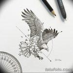 фото Эскизы тату орёл от 21.10.2017 №047 - Sketches of an eagle tattoo - tatufoto.com