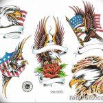 фото Эскизы тату орёл от 21.10.2017 №061 - Sketches of an eagle tattoo - tatufoto.com