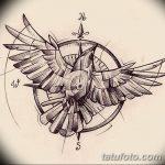 фото Эскизы тату орёл от 21.10.2017 №064 - Sketches of an eagle tattoo - tatufoto.com