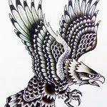 фото Эскизы тату орёл от 21.10.2017 №073 - Sketches of an eagle tattoo - tatufoto.com