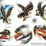 фото Эскизы тату орёл от 21.10.2017 №075 - Sketches of an eagle tattoo - tatufoto.com