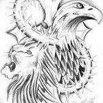 фото Эскизы тату орёл от 21.10.2017 №076 - Sketches of an eagle tattoo - tatufoto.com