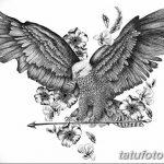 фото Эскизы тату орёл от 21.10.2017 №077 - Sketches of an eagle tattoo - tatufoto.com