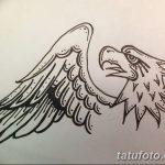 фото Эскизы тату орёл от 21.10.2017 №080 - Sketches of an eagle tattoo - tatufoto.com
