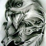фото Эскизы тату орёл от 21.10.2017 №082 - Sketches of an eagle tattoo - tatufoto.com