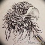 фото Эскизы тату орёл от 21.10.2017 №084 - Sketches of an eagle tattoo - tatufoto.com