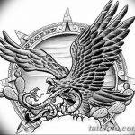 фото Эскизы тату орёл от 21.10.2017 №088 - Sketches of an eagle tattoo - tatufoto.com