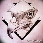 фото Эскизы тату орёл от 21.10.2017 №089 - Sketches of an eagle tattoo - tatufoto.com