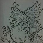 фото Эскизы тату орёл от 21.10.2017 №090 - Sketches of an eagle tattoo - tatufoto.com