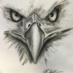 фото Эскизы тату орёл от 21.10.2017 №093 - Sketches of an eagle tattoo - tatufoto.com