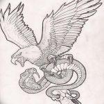 фото Эскизы тату орёл от 21.10.2017 №095 - Sketches of an eagle tattoo - tatufoto.com