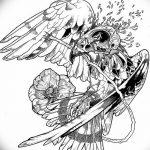фото Эскизы тату орёл от 21.10.2017 №097 - Sketches of an eagle tattoo - tatufoto.com