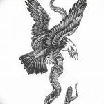 фото Эскизы тату орёл от 21.10.2017 №100 - Sketches of an eagle tattoo - tatufoto.com