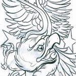 фото Эскизы тату орёл от 21.10.2017 №103 - Sketches of an eagle tattoo - tatufoto.com