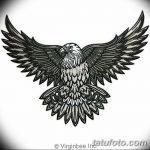 фото Эскизы тату орёл от 21.10.2017 №104 - Sketches of an eagle tattoo - tatufoto.com