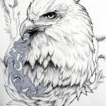 фото Эскизы тату орёл от 21.10.2017 №108 - Sketches of an eagle tattoo - tatufoto.com