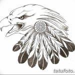 фото Эскизы тату орёл от 21.10.2017 №111 - Sketches of an eagle tattoo - tatufoto.com