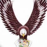 фото Эскизы тату орёл от 21.10.2017 №114 - Sketches of an eagle tattoo - tatufoto.com