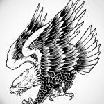 фото Эскизы тату орёл от 21.10.2017 №121 - Sketches of an eagle tattoo - tatufoto.com