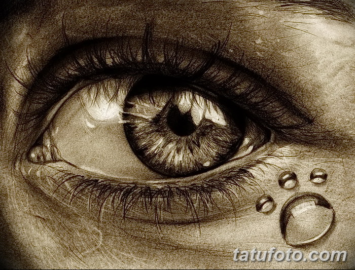 фото Эскизы тату слеза под глазом от 10.10.2017 №001 - Sketches of a tear - tatufoto.com