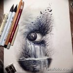 фото Эскизы тату слеза под глазом от 10.10.2017 №054 - Sketches of a tear - tatufoto.com