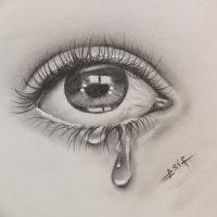 Эскизы тату слеза под глазом