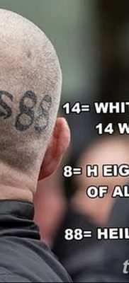 фото нацистские тату 88 от 28.10.2017 №013 – Nazi tattoos 88 – tatufoto.com