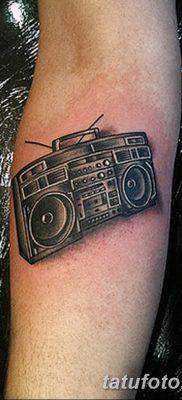 фото татуировка динамик и магнитофон от 11.10.2017 №001 – tattoo speaker – tatufoto.com