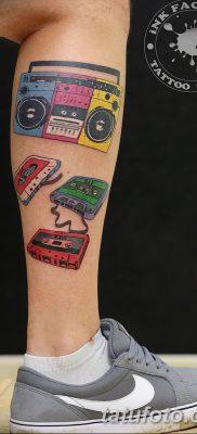 фото татуировка динамик и магнитофон от 11.10.2017 №004 – tattoo speaker – tatufoto.com