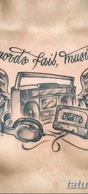 фото татуировка динамик и магнитофон от 11.10.2017 №018 – tattoo speaker – tatufoto.com