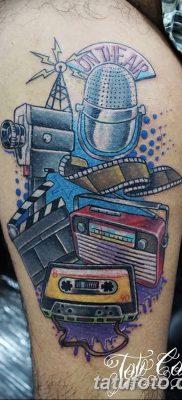 фото татуировка динамик и магнитофон от 11.10.2017 №026 – tattoo speaker – tatufoto.com