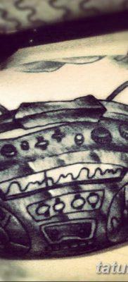 фото татуировка динамик и магнитофон от 11.10.2017 №029 – tattoo speaker – tatufoto.com