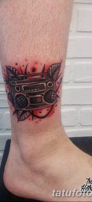 фото татуировка динамик и магнитофон от 11.10.2017 №030 – tattoo speaker – tatufoto.com