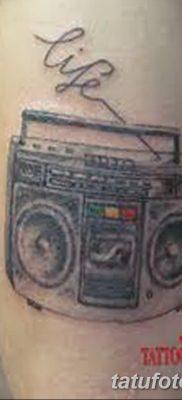 фото татуировка динамик и магнитофон от 11.10.2017 №032 – tattoo speaker – tatufoto.com
