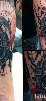 фото татуировка динамик и магнитофон от 11.10.2017 №037 – tattoo speaker – tatufoto.com
