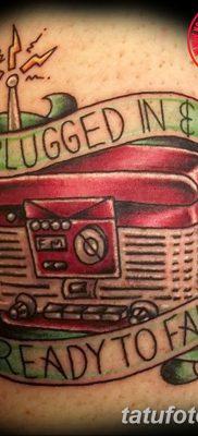 фото татуировка динамик и магнитофон от 11.10.2017 №039 – tattoo speaker – tatufoto.com