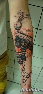 фото татуировка динамик и магнитофон от 11.10.2017 №041 – tattoo speaker – tatufoto.com